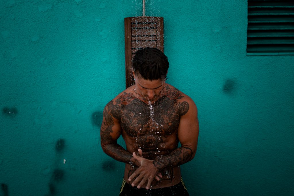 tattoo shower