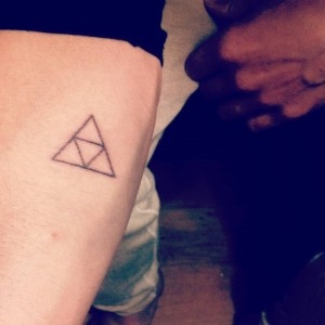 Stick and poke tattoo ideas - Triforce arm
