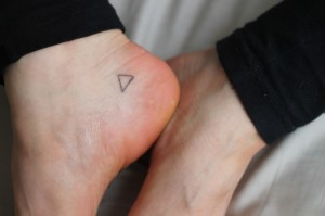 Stick and poke tattoo ideas - Triangle