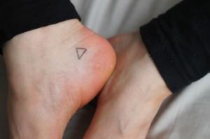 Stick and poke tattoo ideas - Triangle