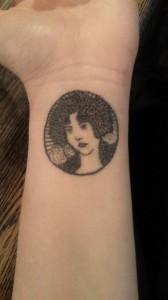 Stick and poke tattoo ideas - Lady